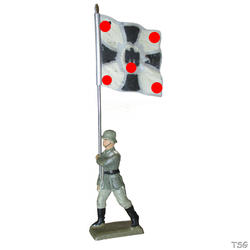 Lineol Flag bearer marching
