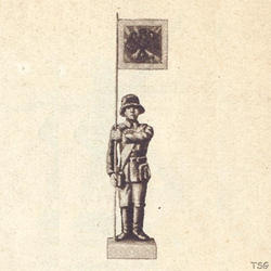 Lineol Standard bearer standing at attention