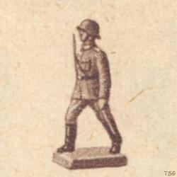 Lineol Officer marching, with raised sword