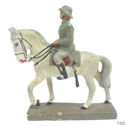 Lineol Officer riding on horseback, with raised sword