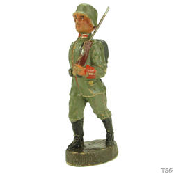 Elastolin Infantry soldier marching, shouldered arms