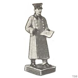 Lineol Officer standing, with map