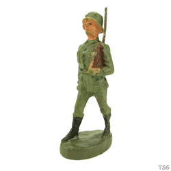 Elastolin Infantry soldier, rifle shouldered