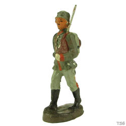 Elastolin Infantry soldier marching, rifle shouldered