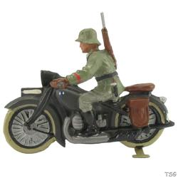 Lineol Motorcycle infantry soldier with motorcycle
