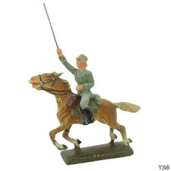 Lineol Officer attacking on horseback, with sword raised