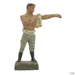 Lineol Infantry soldier standing, drying himself