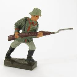 Infantry soldier assaulting, with rifle