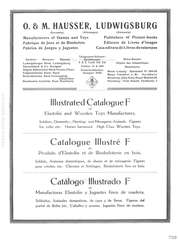 Elastolin, Illustrated Cataloque F of Elastolin and Wooden Toy Manufactures, O. & M. HAUSSER, LUDWIGSBURG, Page 2